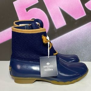 New Sperry Saltwater Wool Waterproof Lined Boots